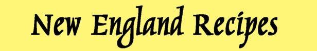 New Egnland Recipes Masthead II