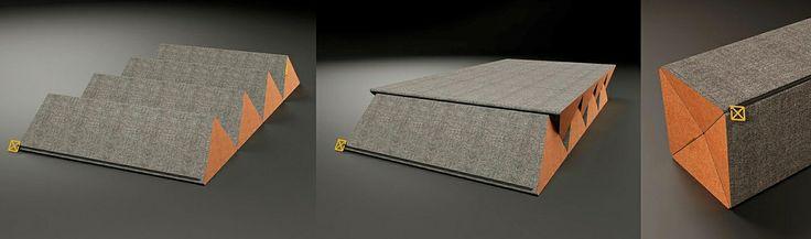 Komplet dwóch niezwykłych pufów, które służą nie tylko do siedzenia. Można je rozkładać i łączyć na wiele sposobów, tworząc leżankę, materac, a nawet wygodne dwuosobowe łóżko. Pomysłowość konstrukcji idzie w parze z perfekcją detali. Przywieszka zamka błyskawicznego, który zamyka złożony puf, jest wykonana ze srebra - inna w wersji dla kobiet, inna dla mężczyzn. Zamek w kolorze czarnym. Projektant: Ryszard Mańczak, pufy TANGO, 2012, do kupienia na www.nowymodel.org