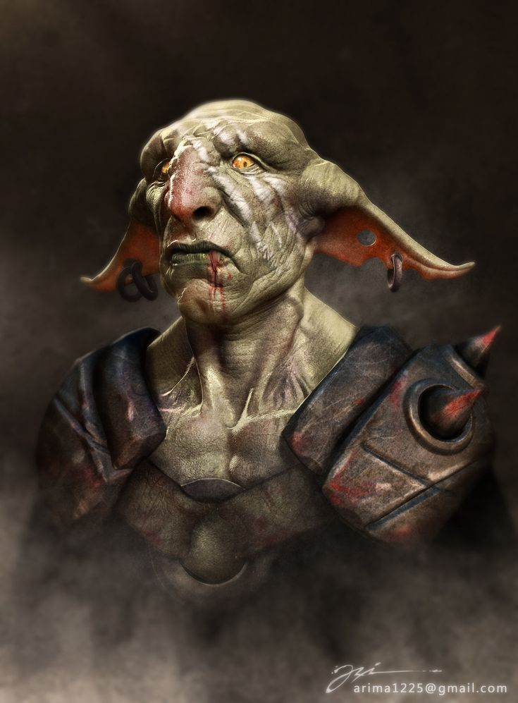 Gogob goblin, ari yanto on ArtStation at https://www.artstation.com/artwork/gogob-goblin