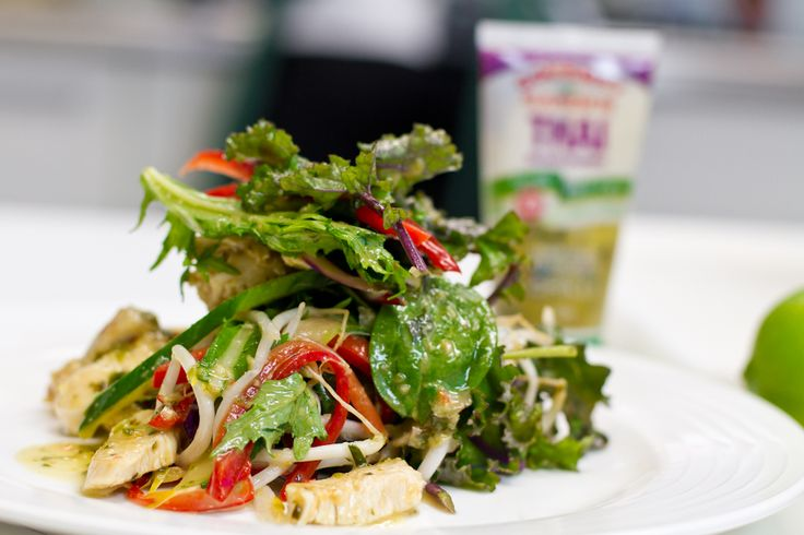 Thai Chicken Salad: Making a delicious Thai salad is so simple with Gourmet Garden Thai Seasoning