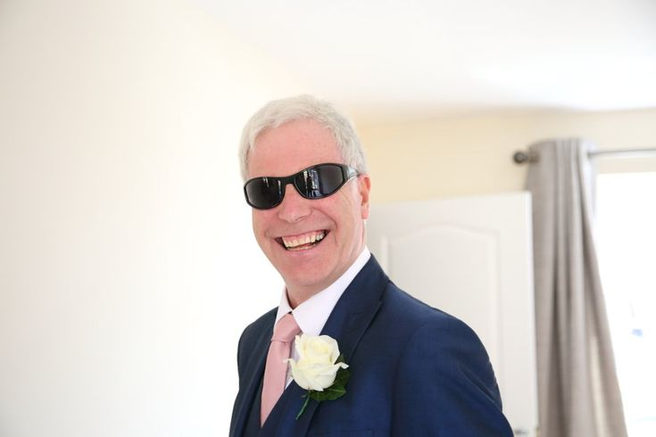 father of the bride with his sunglasses on, suffolk wedding