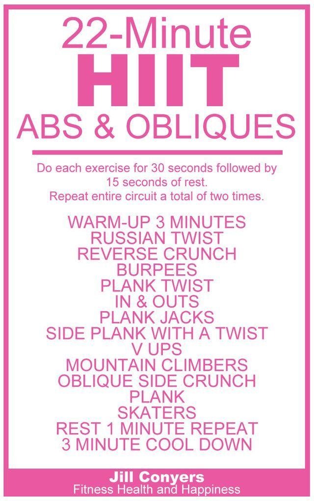 HIIT Abs & Obliques Workout | Jill Conyers || Fitness, Health and Happiness | Bloglovin'