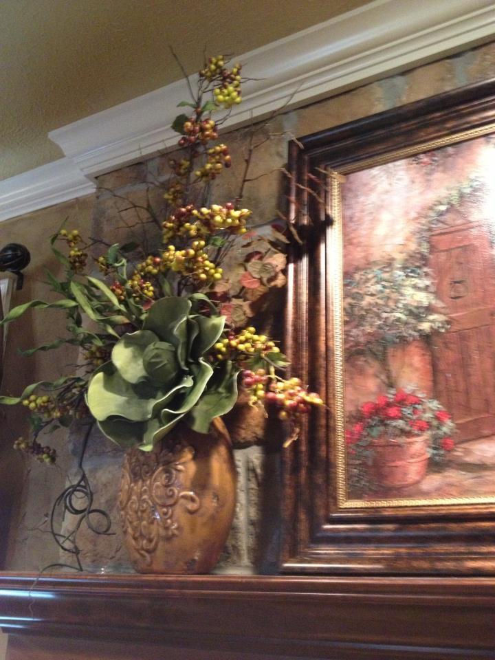 Love this Tuscan floral arrangement.