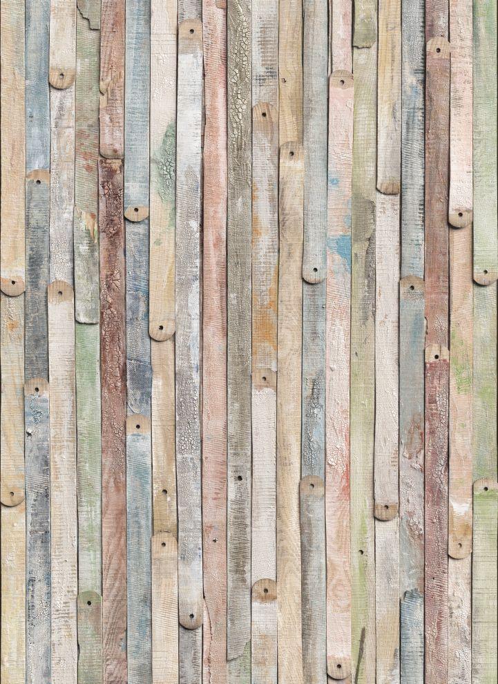 Fototapet Lemn Vintage Pastel Multicolor decorare pereti. Aplicare usoara si…