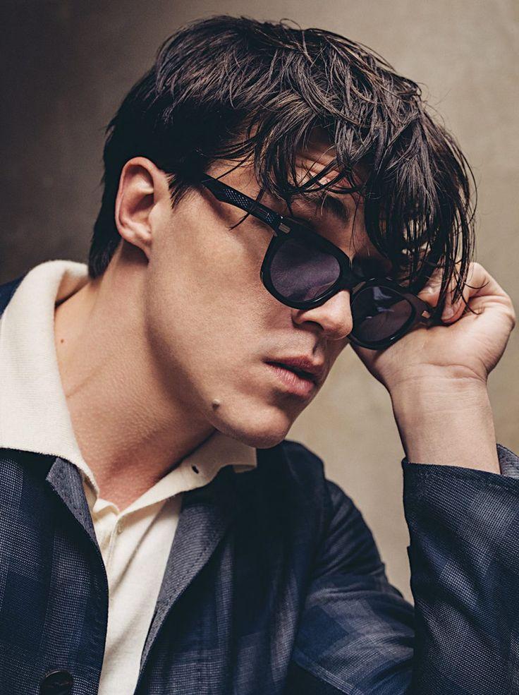 #FinnWittrock models #NativeSons sunglasses.