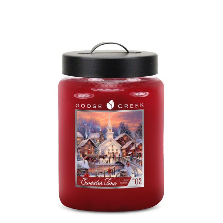 Sweater Time Goose Creek Candle 20 Oz Jar   Nieuw Holiday Goose Creek Candle   Kadoshop De Duizendpoot