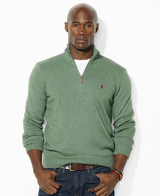 Polo Ralph Lauren Big and Tall Sweater, Half-Zip Lightweight Sweater - Mens Big & Tall - Macy's; Size 2XL
