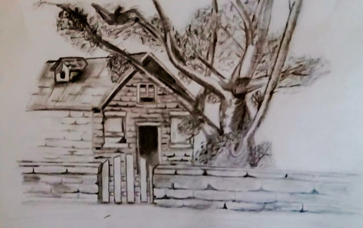 an old rickety house by kelly