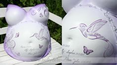 How to paint and decorate an belly cast with butterflies and ornaments