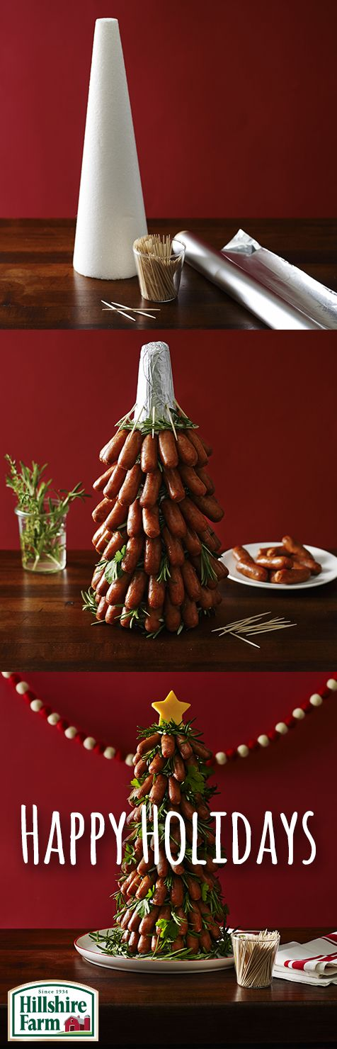 Happy holidays! Need some inspiration for a delicious appetizer the whole family will enjoy? Try a fun and decorative Lit'l Smokies Tree! Find step by step instructions here.