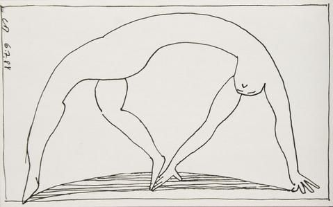 Charles Blackman 'Back Bend (From the Ballet Series)' - ink on paper