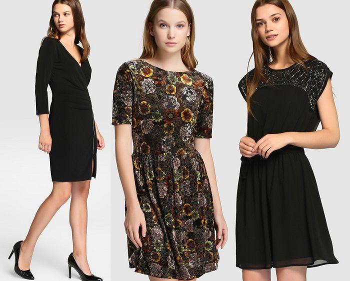 Vestidos con brillos son una de las propuestas que más repite la colección de Sfera para los looks de fin de año, tanto en tonos dorados como plateados 2017