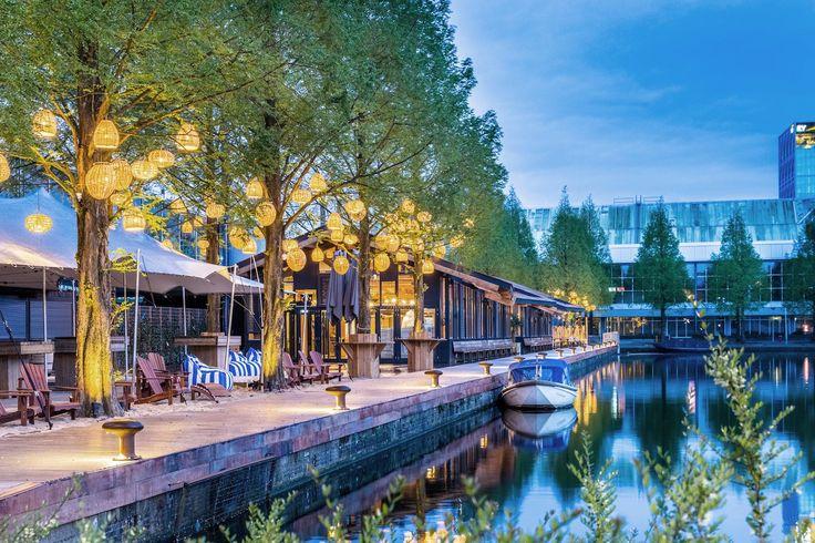 Strandzuid Amsterdam  Steiger armatuur: Bitta                     #lamp #bolder #Strand zuid amsterdam #illum  #Bitta #Torremato