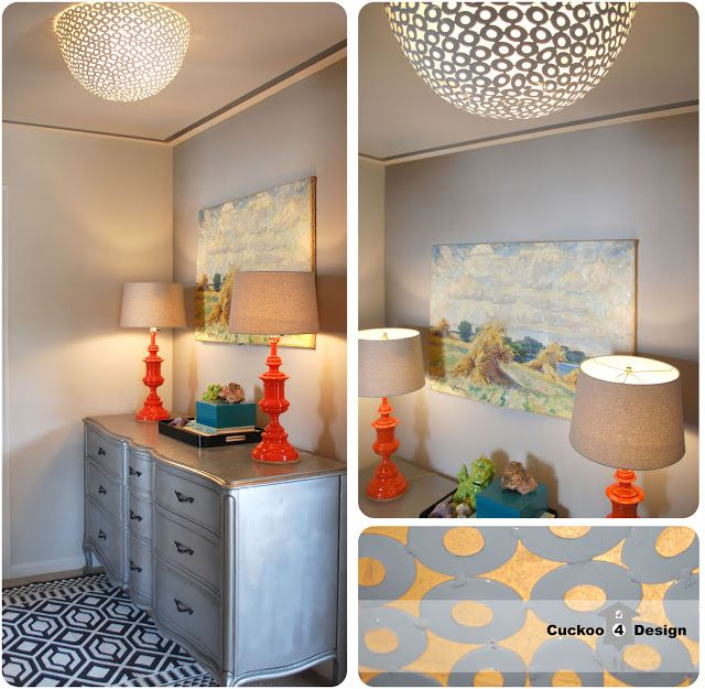 Cuckoo 4 Design: HomeGoods clearance bowl as DIY ceiling fixture