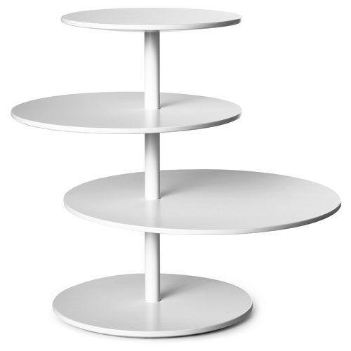 Twist Table er både et bord og en hylle som gir maksimal oppbevaring på minimal gulvplass. Roter hyl...