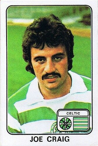 Joe Craig of Celtic in 1977.