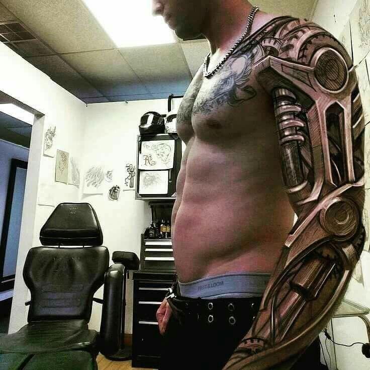 Best 25+ Mechanical Arm Tattoo Ideas On Pinterest