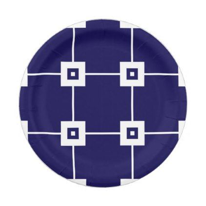 Blue Crush No. 4 Paper Plate - home gifts ideas decor special unique custom individual customized individualized