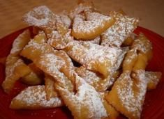Italian Sweetened Fried Bow Ties
