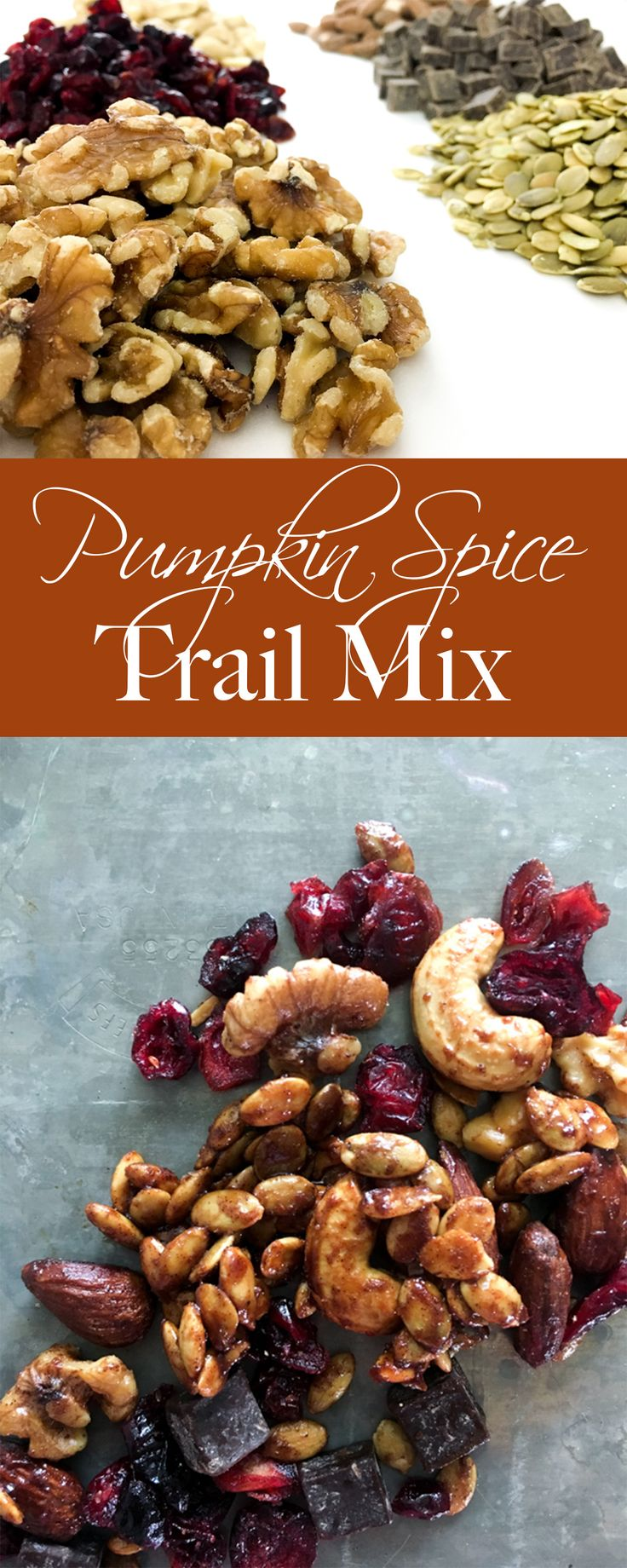 All the flavors of fall and pumpkin in a healthy trail mix.