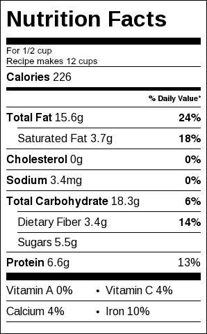 Sugar Free Granola Nutrition Information
