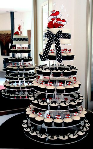 Rockabilly cupcake tower  Love these cake designs...great ideas for weddings too