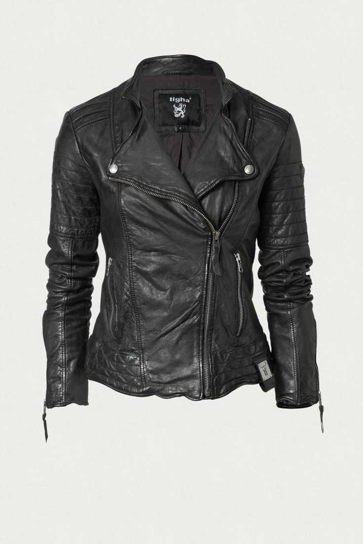 TIGHA ONLINE SHOP - BIKERJACKE IM USED LOOK