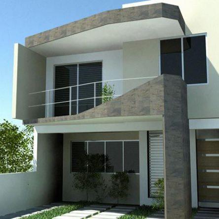 Fachada de casas con balcon modernas tijuana pinteres for Fachada de casas