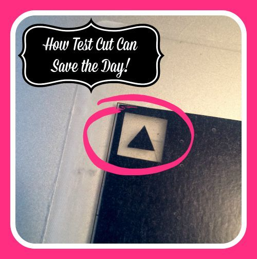 how to do a test cut on silhouette cameo