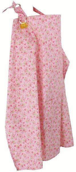 Zástěrka na kojení růžová s romantickými kvítky | Kampaň Minene | Nabídka vyprší: 14.04.2013