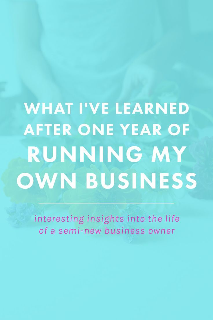 What I've Learned After One Year of Running My Own Business | In one year, I've doubled my income, created more happiness than I thought possible, and built a business that is still growing and thriving. Here's what I learned in one year's time. Perfect for freelancers, bloggers, entrepreneurs, and small business owners!