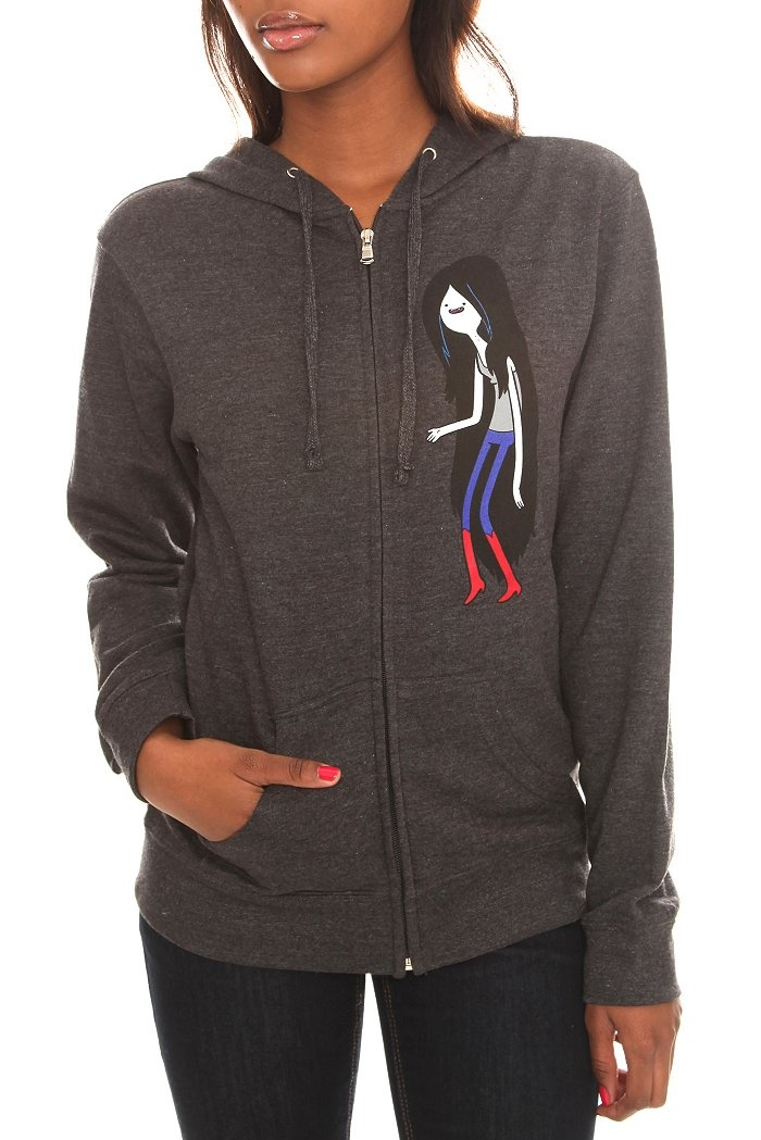 Adventure Time Marceline the Vampire Queen hoodie. Printed Front and Back. Oh my Glob! Hot Topic exclusive