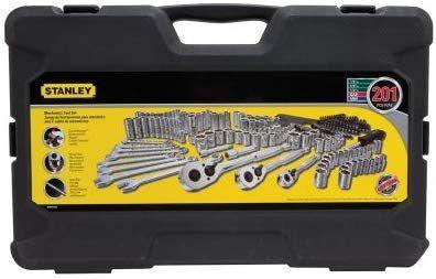 Stanley Mechanics Tool Set Sockets Combination Wrench Hex Keys Nut 201-Piece
