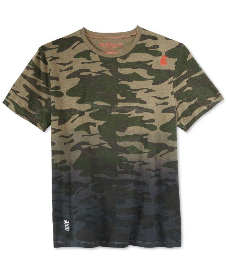 Buffalo David Bitton Men's Niflay Ombre Camouflage T-Shirt