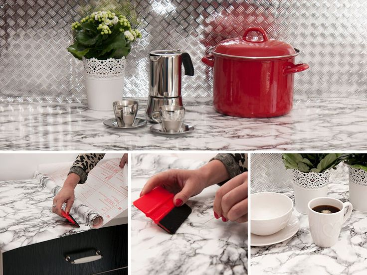 HOW TO: Montere kontaktplast på kjøkkenbenken, Les blogginnlegget og se monteringsvideo. Lindas Dekor og Design