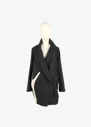 Black classic seaweed coat - Tsumori Chisato e-store | Tsumori Chisato E-store