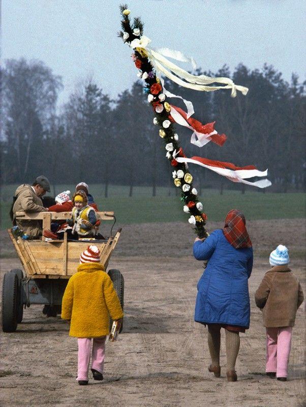 Niedziela Palmowa, Kurpie, lata 80.
