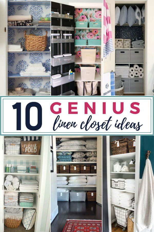 Need ideas for linen closet organization? Get inspired by these genius linen closet organization ideas and give your linen closet a pretty makeover.