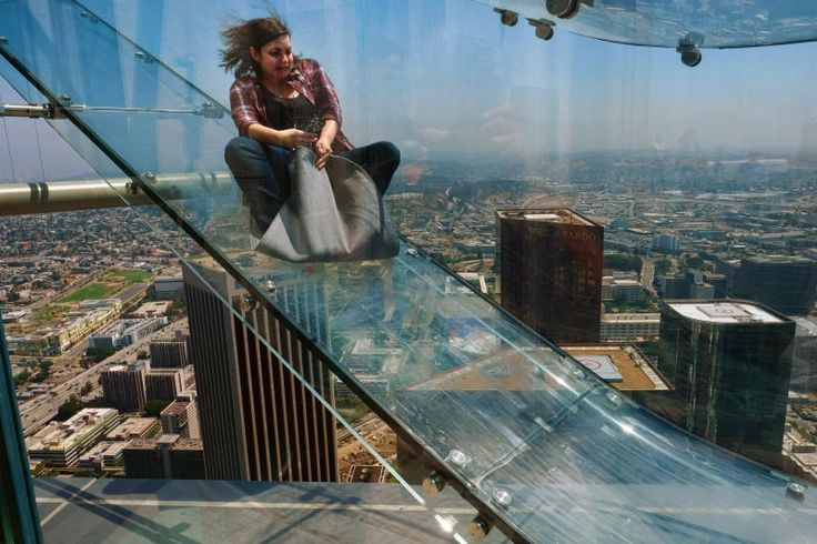 Beware this new Los Angeles attraction if you're afraid of heights. I know I am because nope.