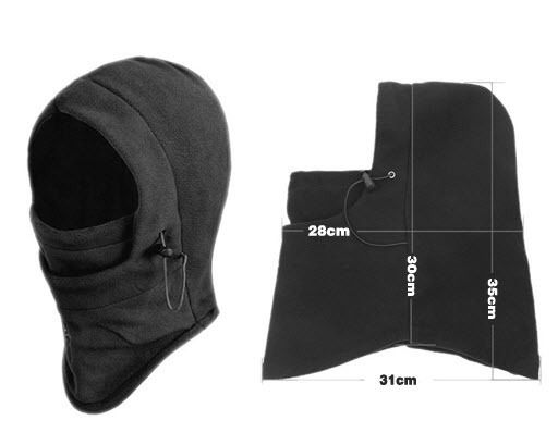 6 in 1 Thermal Fleece Balaclava Hat Hood Police Swat Ski Bike Wind Stopper Face Mask outdoor face mask