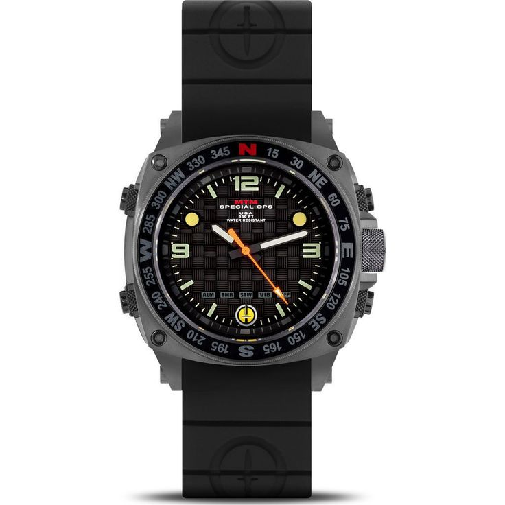 MTM Special Ops Steel Silencer Watch | Gray/Black Rubber II