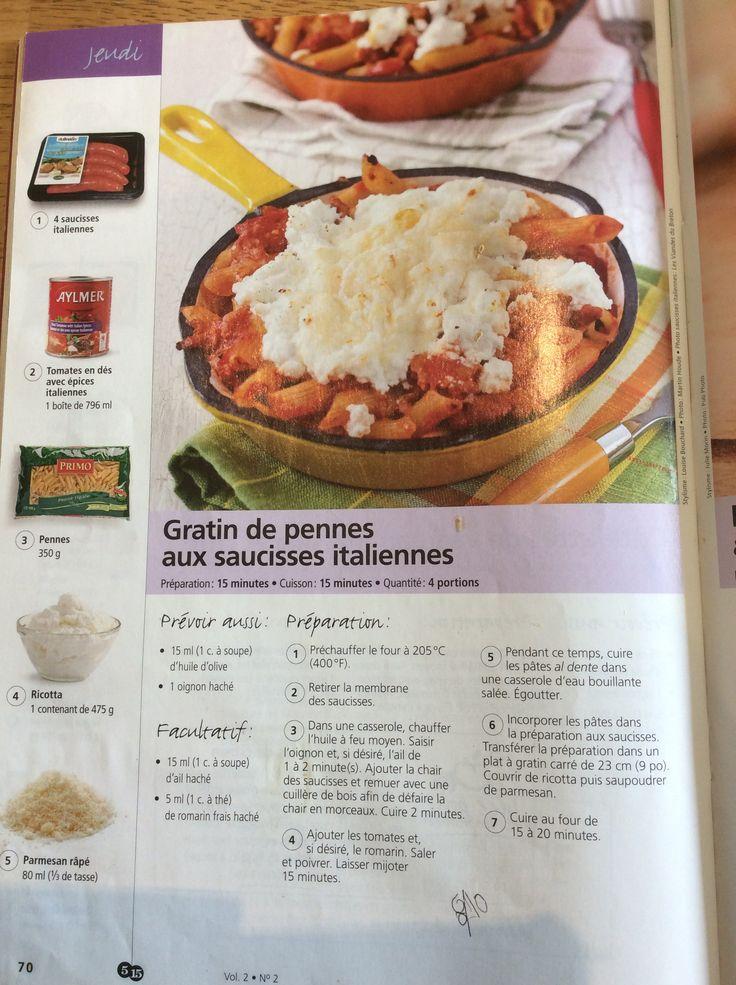... Aux Saucisses no Pinterest   Recette sauce pates, Recette pate