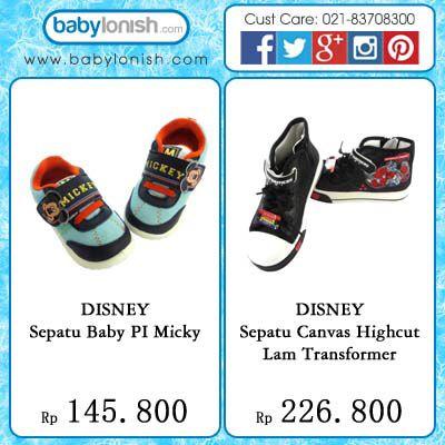 Sepatu Disney lucu untuk anak Anda. Dipersembahkan oleh  www.babylonish.com