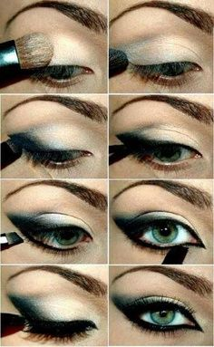 I wouldn't go so dark on the eyeliner, but other than that, it's very pretty.