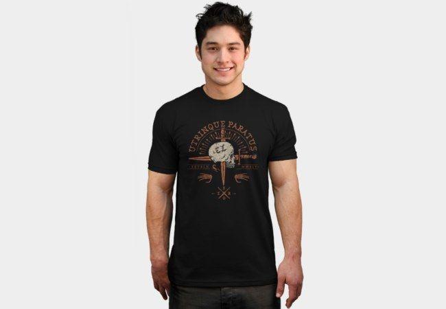 Utrinque Paratus Double Swords T-Shirt - Design By Humans