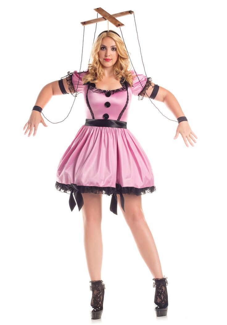 Women's Plus Size Pink Marionette Costume