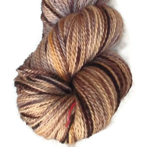 Hand Dyed Bluefaced Leicester Wool Sock Yarn, 2-ply Harvest .