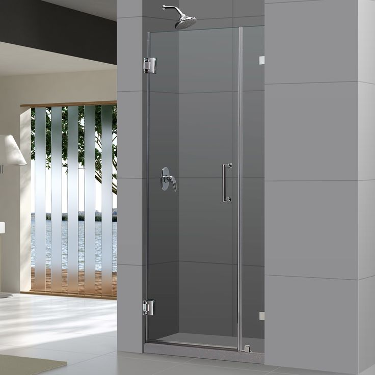 Dreamline unidoorlux frameless shower door 33 36 x 72 for Solid glass shower doors