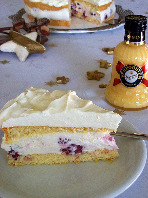 Eierlikör Rezept: Mascarpone-Quark-Kirsch-Torte mit Verpoorten Original - Backrezepte - VERPOORTEN