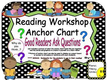Workshop anchor chart amp student bookmarks quot good readers ask
